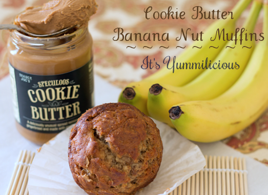 Cookie Butter Banana Nut Muffins from @ItsYummi #recipe #CookieButter