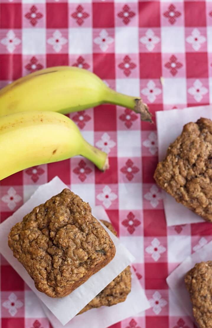 Low Carb Banana Bread Bites - Recipe from @itsyummi - These banana bread muffins have just 10 net grams of carbs per muffin. If you make them into mini muffins, they're just 5 net grams of carbs each!
