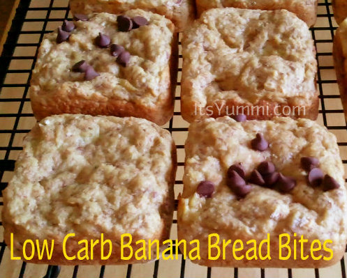 Low Carb Banana Bread Bites from ItsYummi.com #WeightWatchers #Recipe