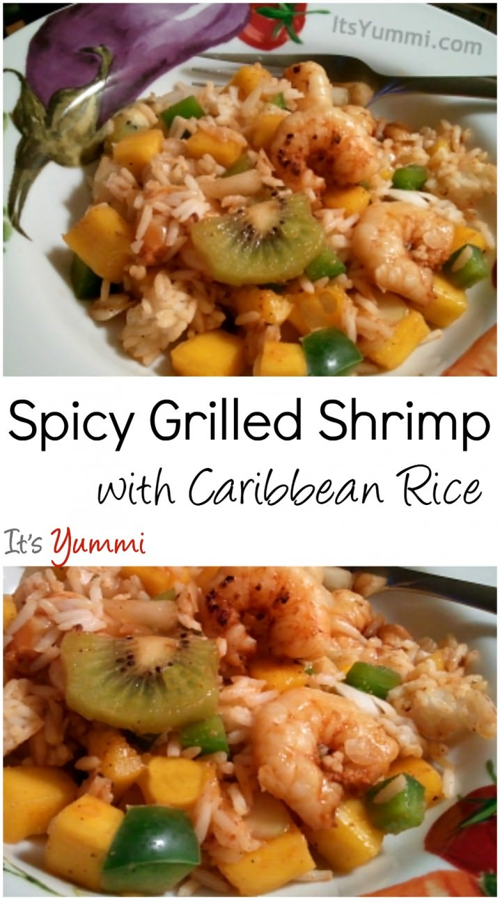 Spicy Grilled Shrimp with Caribbean Rice