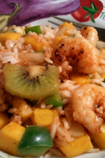 Spicy Grilled Shrimp with Carribean Rice from ItsYummi.com