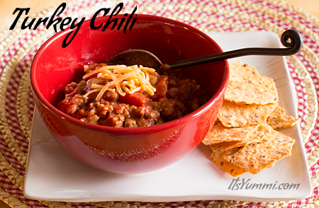 Turkey Chili Con Frijoles (with beans) from ItsYummi.com - only 6 Weight Watchers Points Plus! Healthy & delicious!