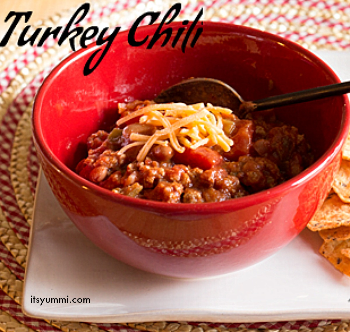 Turkey Chili Con Frijoles (with beans) from ItsYummi.com - only 6 ...