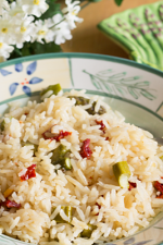 Jasmine Rice Pilaf with Asparagus & Sun Dried Tomatoes from ItsYummi.com
