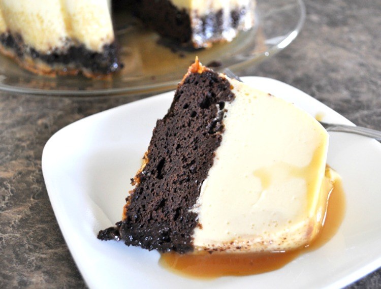 Chocolate Flan Cake Recipe Itsyummi Com