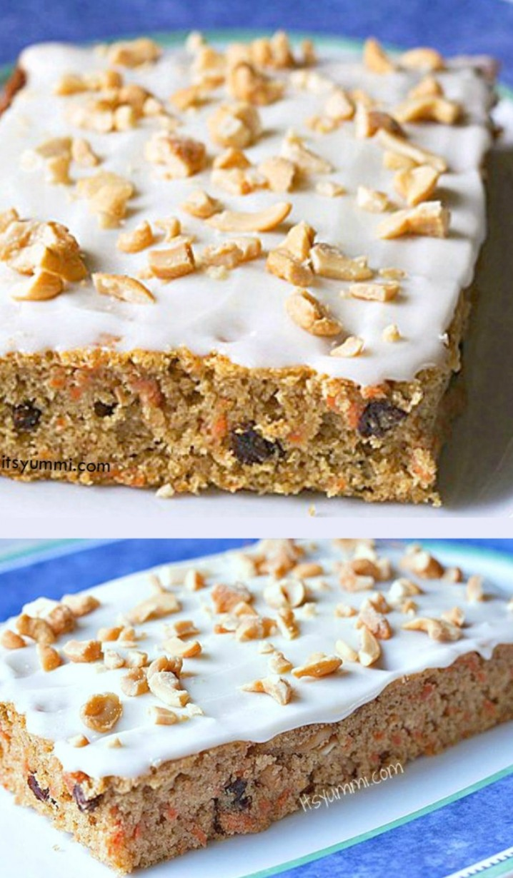 This healthier carrot cake is lower in fat and calories than a traditional carrot cake recipe. It has a decadent cashew cream cheese frosting that you'll go crazy for! From @itsyummi