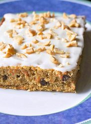 Healthy Carrot Cake with Cashew Cream Cheese Frosting