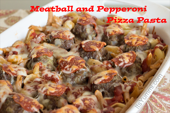 Meatball & Pepperoni Pizza Pasta from ItsYummi.com