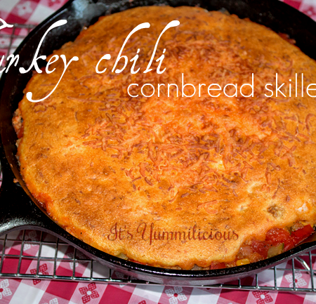 Turkey Chili Cornbread Skillet