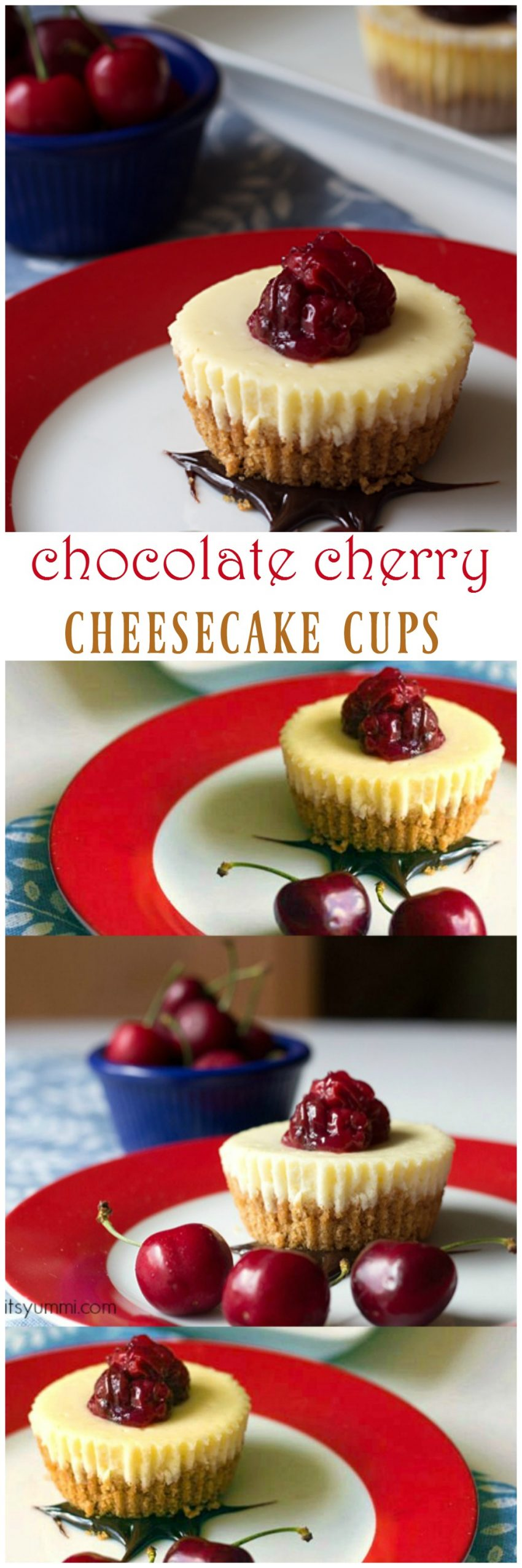 Chocolate Cherry Single Serving Cheesecake Recipe - Perfect portion control! Get the recipe from itsyummi.com
