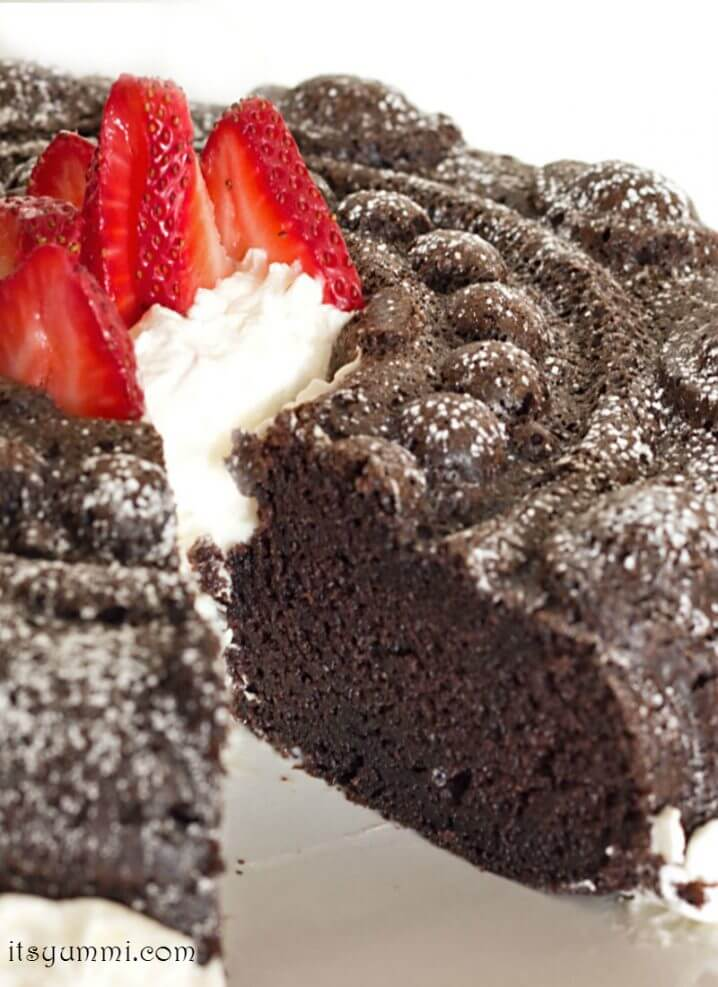 Chocolate Sour Cream Bundt Cake Recipe - Spiked with coffee for extra chocolate flavor, this is a chocolate cake you'll crave constantly! Recipe on itsyummi.com