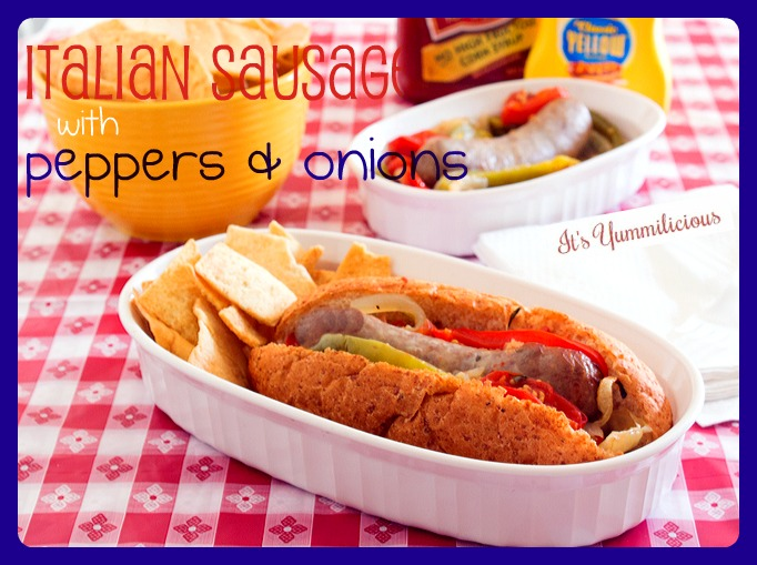 This Italian Sausage with Peppers & Onions from ItsYummi.com is a great way to celebrate the 4th of July or any summer picnic!