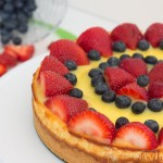 creamy, cool Lemon Berry Cheesecake from ItsYummi.com