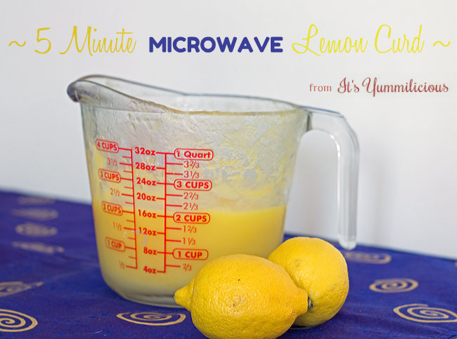 Microwave Lemon Curd from ItsYummi.com - This cooks in 5 minutes or less!