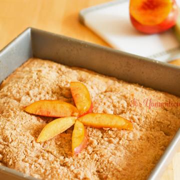 Nectarine Crumb Cake from ItsYummi.com