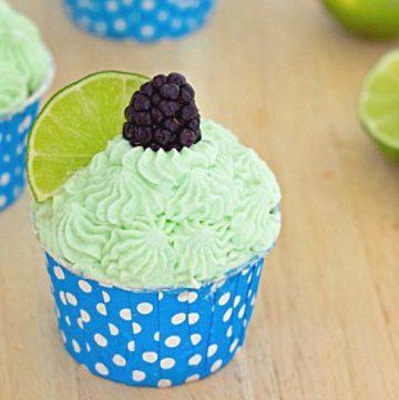 Blackberry Lime Cupcake Recipe, from itsyummi.com