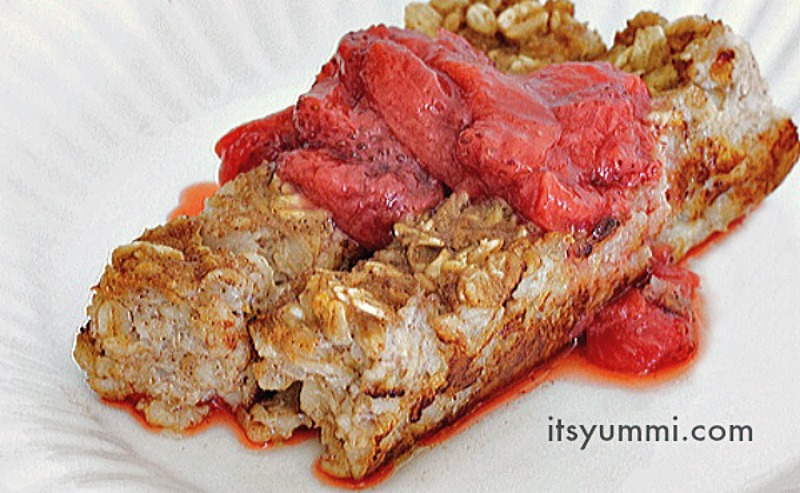 Pan Fried Banana Berry Oatmeal