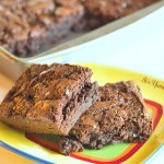 Caramel Bacon Brownies from ItsYummi.com for #baconmonth 2013