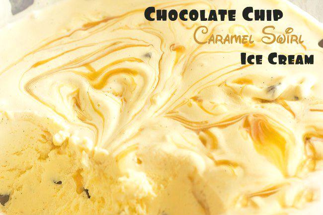 Caramel Swirl Chocolate Chip Ice Cream