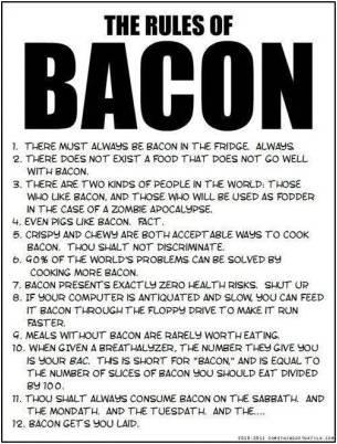 the rules of bacon #baconmonth 2013