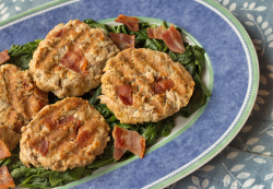 Recipe for Healthy Tuna Patties with Bacon, from ItsYummi.com