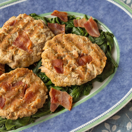 Tuna Patties with Bacon