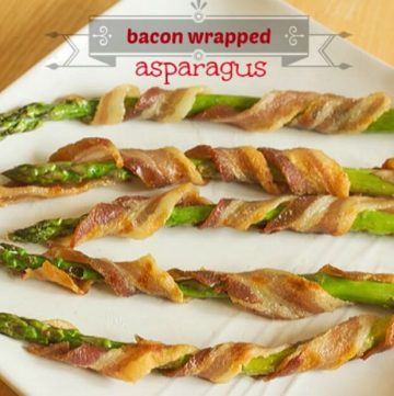 This bacon wrapped asparagus from ItsYummi.com is a low-carb side dish and a delicious way to use spring asparagus!