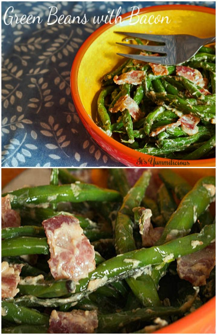 Green Beans with Bacon - a classic Thanksgiving side dish, with a bacon twist!