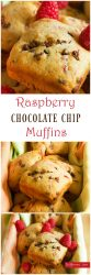 Raspberry Chocolate Chip Muffins - Fresh raspberries and mini chocolate chips folded into a light vanilla muffin, making for a perfect treat any time of the day! | ItsYummi.com