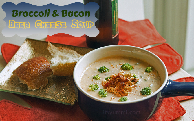 Broccoli Bacon Beer Cheese Soup from ItsYummi.com