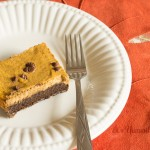 These Chocolate Pumpkin Pie Bars from ItsYummi.com MIGHT put your traditional Thanksgiving pumpkin pie to shame! #WeightLossWednesday #HealthyWaysWednesday #WLW #lowcarb