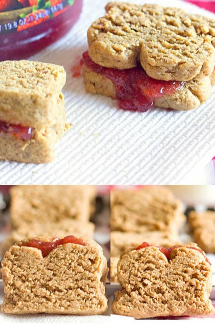 This is a fun cookie recipe! Peanut Butter and Jelly Sandwich Cookies from ItsYummi.com