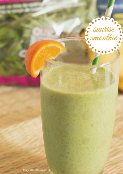 sarapan protein hijau Sehat - Sunrise Smoothie resep ItsYummi.com