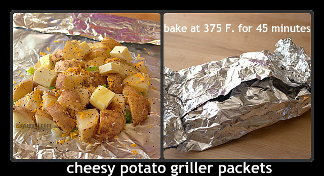 Cheesy Potato Griller Packets from @ItsYummi #shop