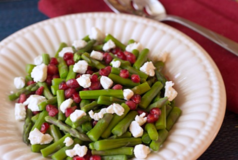 Jeweled Asparagus with Homemade Vanilla Greek Yogurt Cheese ~ from itsyummi.com