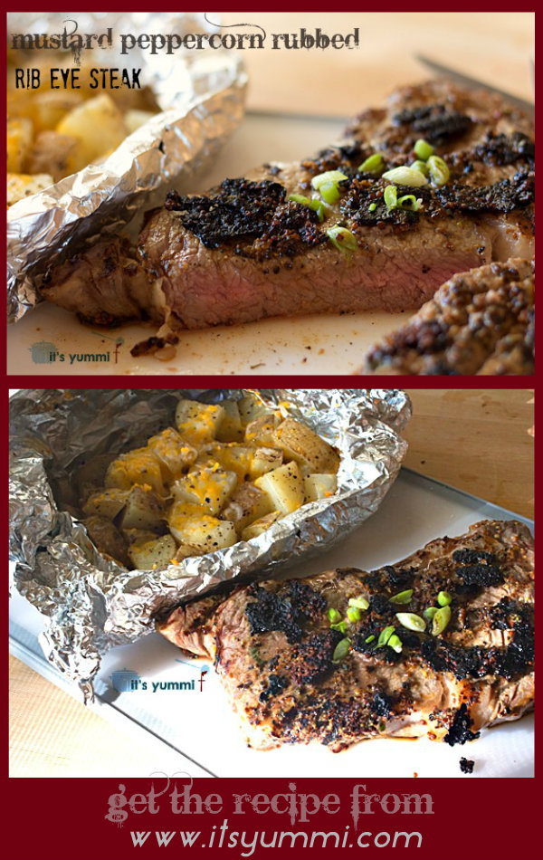 Mustard Peppercorn Rubbed Rib Eye Steak from @itsyummi #shop #cbias #MyPicknSave