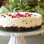 Pomegranate Whipped Cream Cheesecake from ItsYummi.com