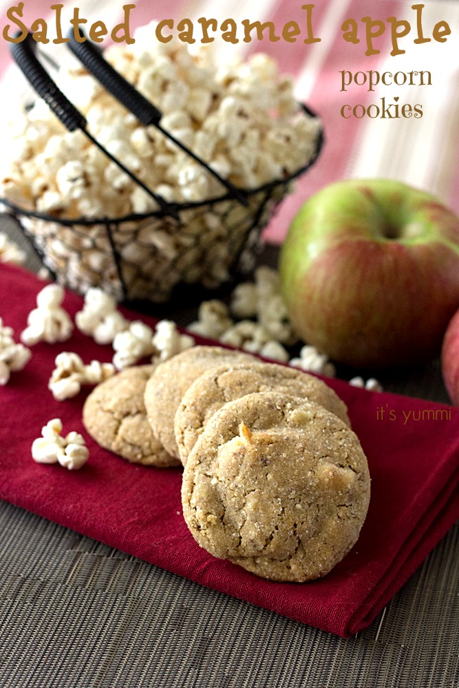 Salted Caramel Apple Popcorn Cookies from @itsyummi - they're sweet & salty perfection!