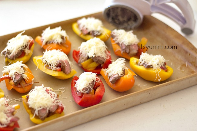 Steak Fajita Bell Pepper Boats from ItsYummi.com