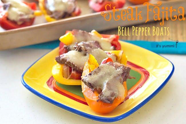 Steak Fajita Bell Pepper Boats from ItsYummi.com