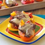 One of my favorite low carb appetizers - Steak Fajita Bell Pepper Sliders from ItsYummi.com