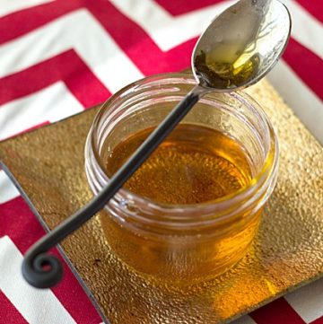 This quick and easy caramel syrup from itsyummi.com is a great way to kick up the flavors of baked goods!