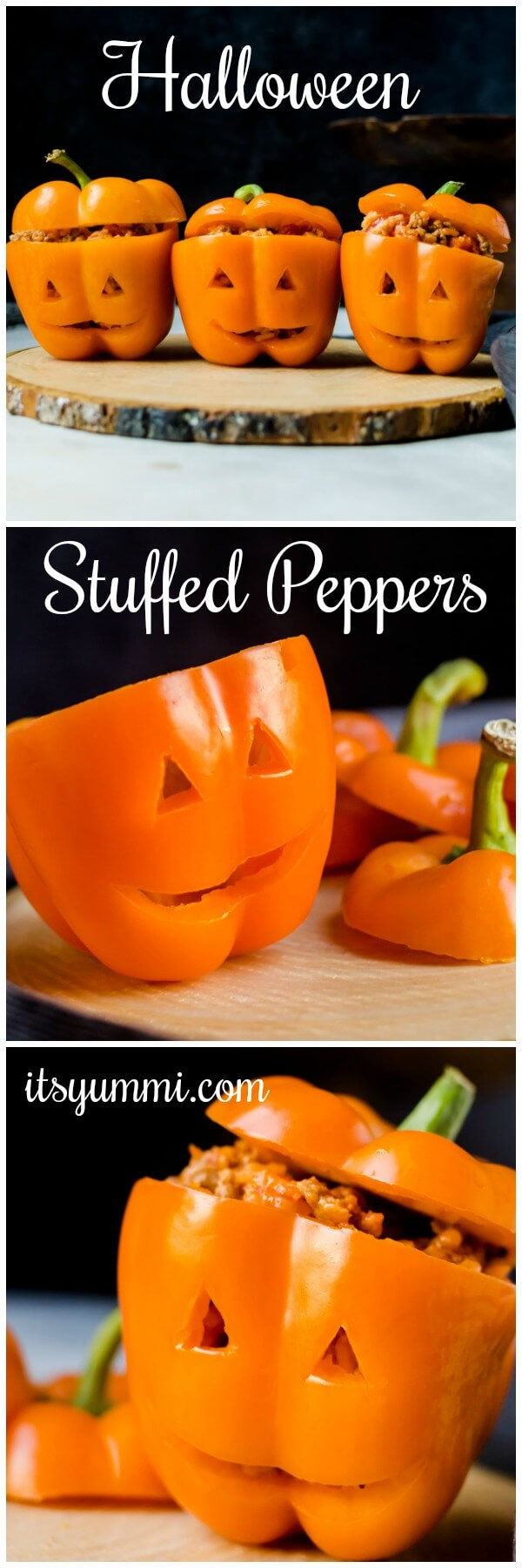 halloween stuffed peppers jack o lanterns its yummi bites of