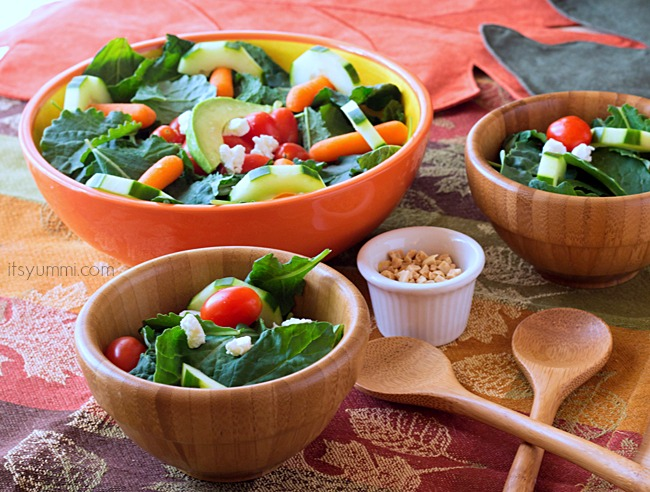 Baby Kale Salad with Organicgirl 100% baby kale