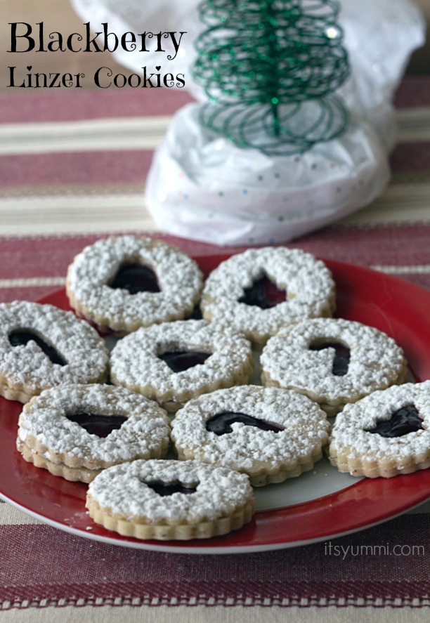 Blackberry Linzer Cookies from ItsYummi.com