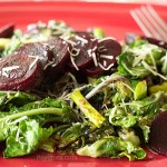 Healthy Salad with Kale Sprouts, Asparagus, and Baby Beets