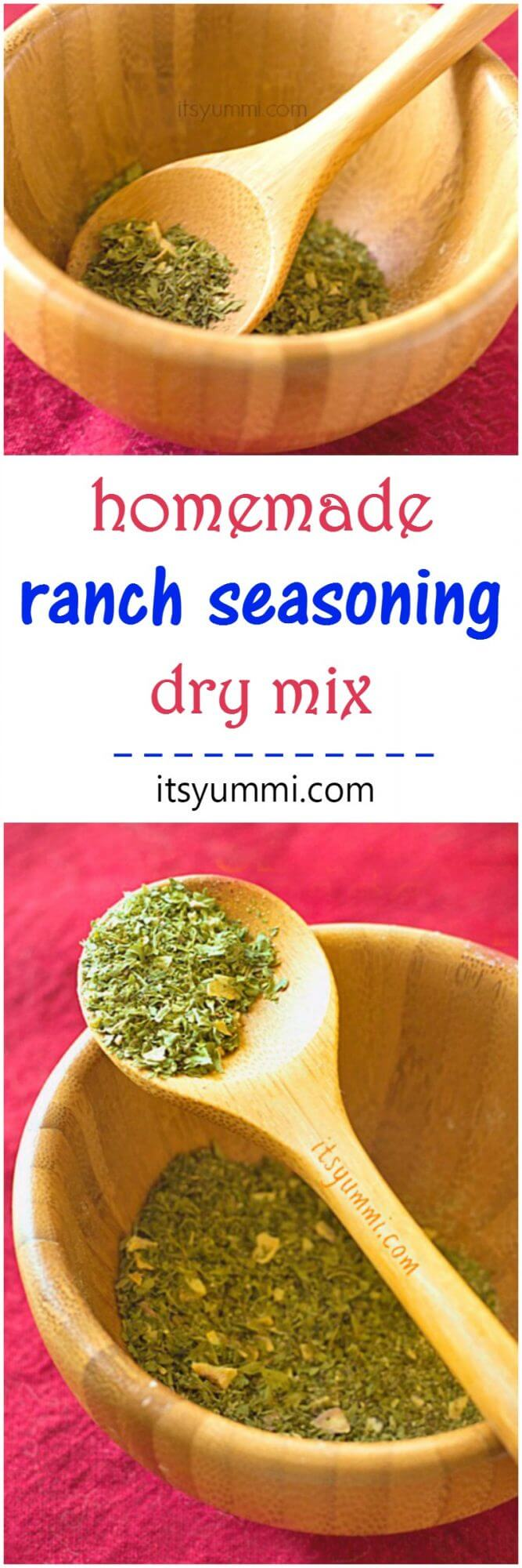 Homemade Ranch Seasoning Mix - Make it yourself and save money (PLUS no nasty preservatives or chemicals) - Recipe from @itsyummi