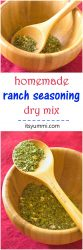 Homemade Ranch Seasoning Mix - don't spend any more money on packaged ranch dressing mixes when you can make it yourself at home for LESS MONEY! | ItsYummi.com