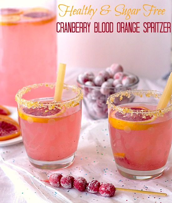 Healthy Cranberry Blood Orange Spritzer Recipe