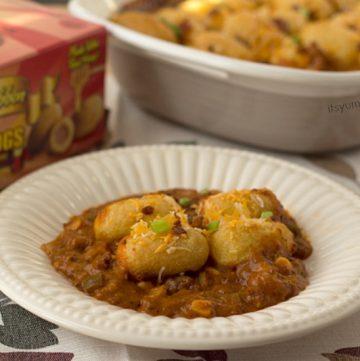 Chili Cheese Corn Dog Casserole Recipe - It's Yummi!
